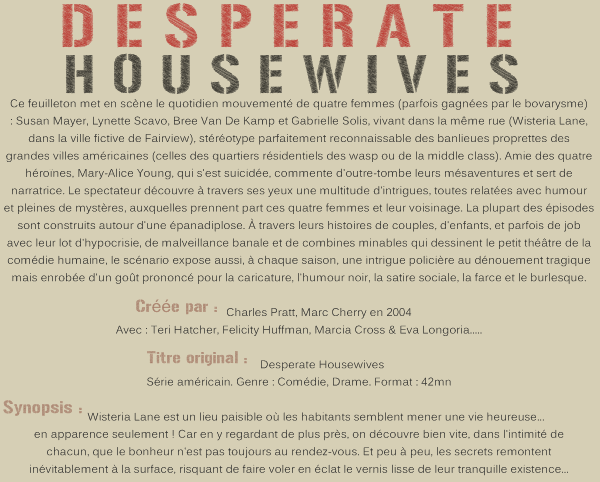 Desperate Houswives Saison 1
