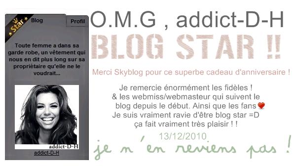addict-D-H BLOG STAR !