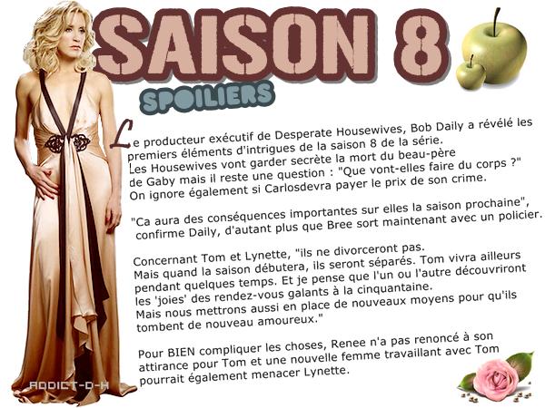 Desperate Housewives Premières révélations sur la saison 8!