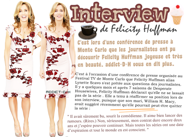 Desperate Housewives : Interview de Felicity Huffman