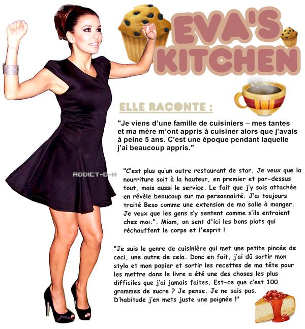 Eva Longoria présente son livre de cuisine! eva's kitchen