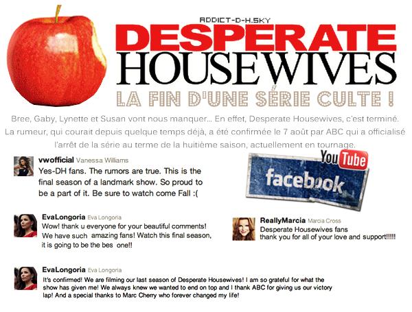 *  Desperate Housewives La fin d'une belle histoire !  *