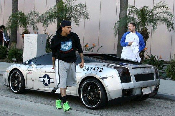 Chris Brown at the Gym