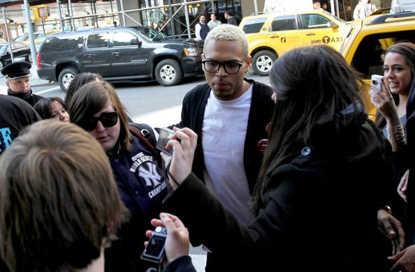 Chris Brown Returns to His Hotel