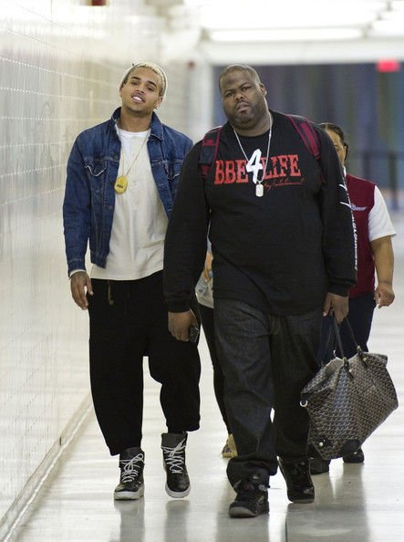 Chris Brown Lands at LAX Airport