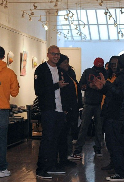 Chris Brown at the Opera Gallery in SoHo