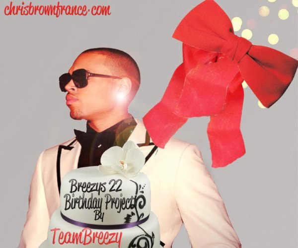 Chris Brown 22nd Birthday Project by Team Breezy
