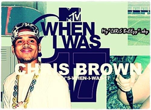 Chris Brown dans l'émission « When I Was 17″ le 14 mai