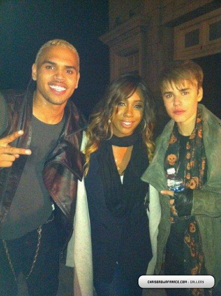 Sur le tournage de « Next to You » avec Chris Brown et Justin Bieber