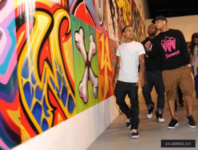 Chris and Bow @ Moca's Street Art Exhibit