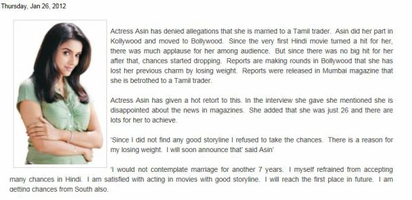 Asin Gives Hot Retort To Allegations Of Marriage