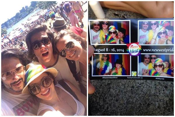 Lana à la gay pride de Vancouver avec Fred et Jack ♥♥