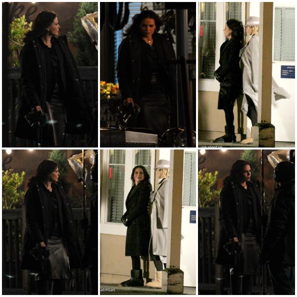 11/12/2014 Les dernieres photos de Lana sur le set de Once Upon A Time au côter de Kristin Bauer (maléfique)