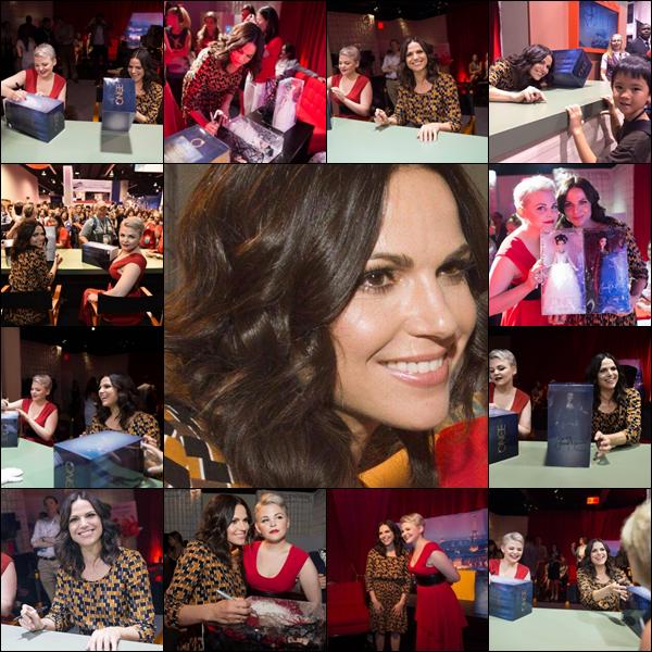 Quelques photos de Lana signant des autographes ce même jour à la D23 expo