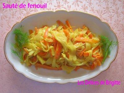 RECETTE N°2 : Sauté de fenouil