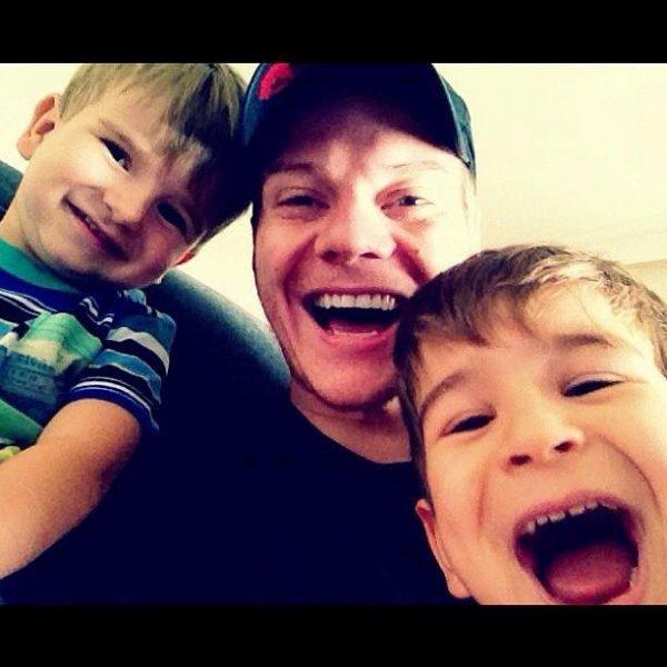 Michel et ses deux neveux.
