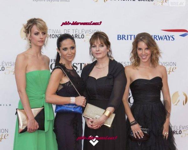 Léa François et d'autre comédiens au  Festival de Télévision de Monte-Carlo