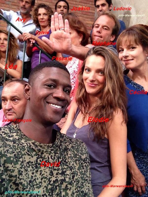 Selfie entre acteurs/actrices.  Photos anciennes.