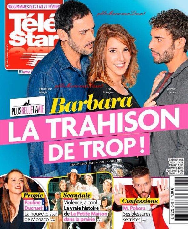 Léa François Marwan Berreni en couverture du magazine Télé Star