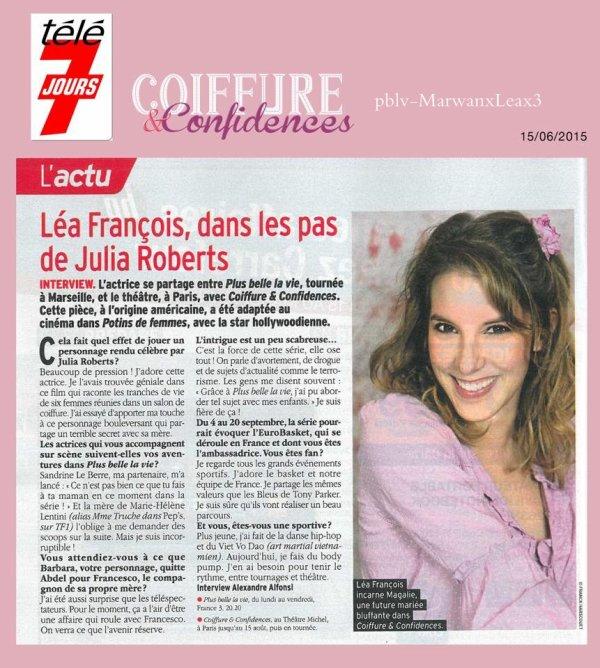 """Luçon : """"Coiffure et confidences"""" au Millandy Association ELA Coiffures et Confidences Shooting photo Léa en Kiosque en Interview"""