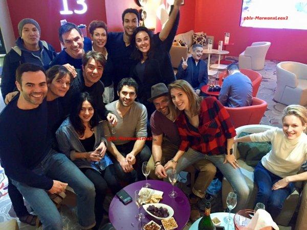 Article 189  Photo Personnelle de Marwan et Léa photos avec les comédiens de plus belle la vie  Vacances au Portugal pour Marwan  Coiffures et Confidences de retour,20 Janvier Mercredi au Dimanche