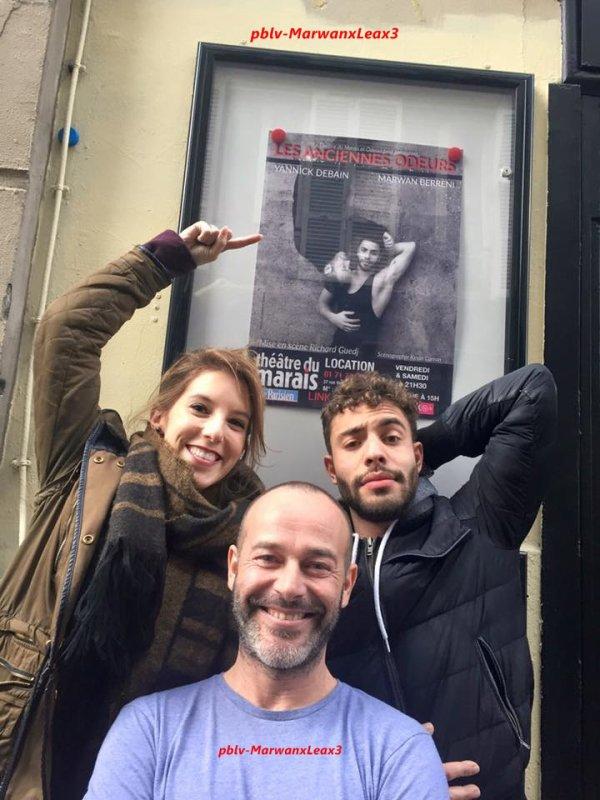 Article 191 Photo Personnelle de Léa François , comédiens venue voir jouer Léa à la pièce coiffure et confidence  mobilisation 24 Janvier