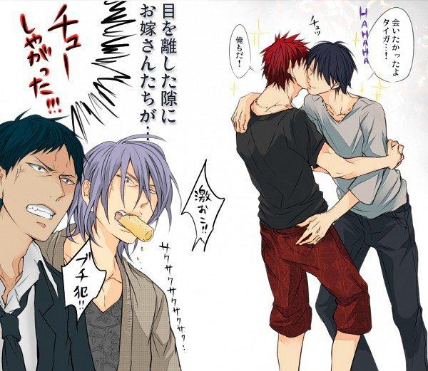 Oh ya de la jalousie dans l'air !!!! Kagami, Himuro faites gaffe !!!