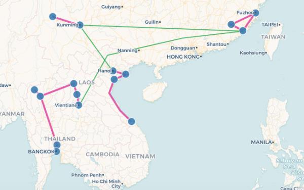 Carte interactive de mon trip