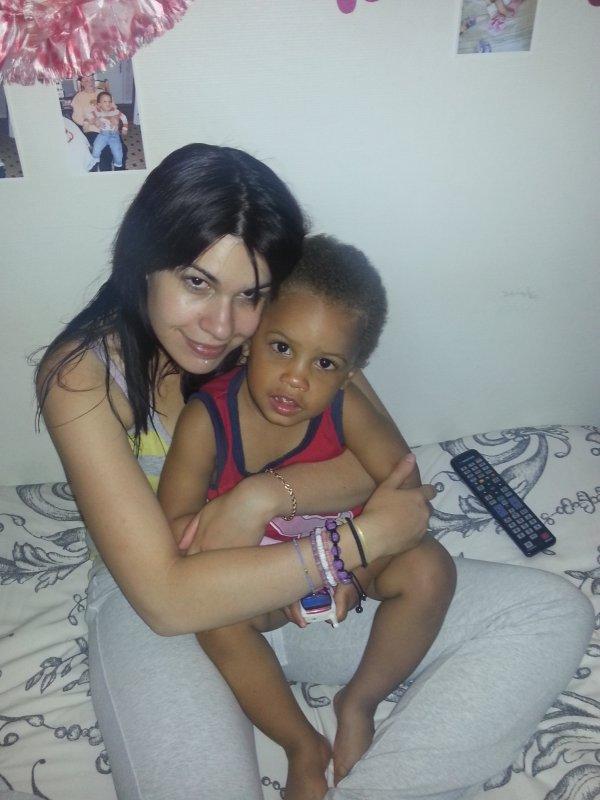 moi et mon fils kylian.