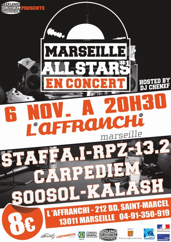 MARSEILLE ALL STARS LE CONCERT !!!!!!