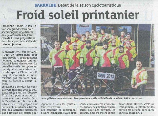 La presse locale: Dernières Nouvelles d'Alsace du 06/03/13