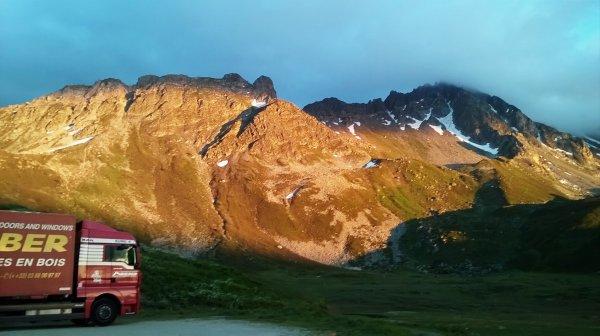 Alpes en camion.