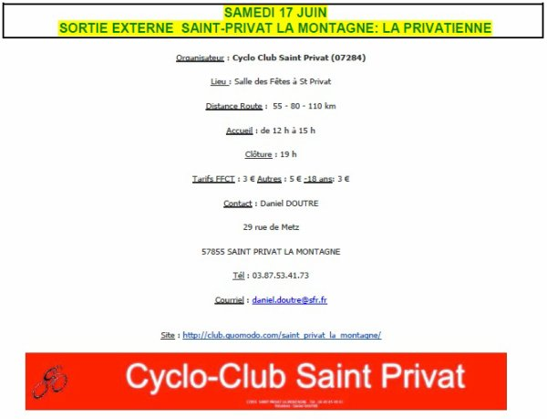 "Sort. Ext : 17/06/17 ""St Privat la Montagne"""