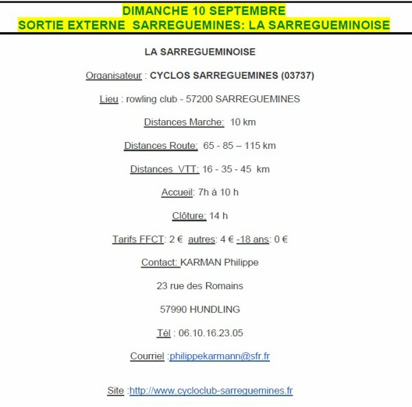 "Sort. Ext "" Sarreguemines"" 10/09/17"