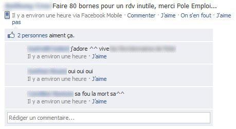 Un ami sur facebook...