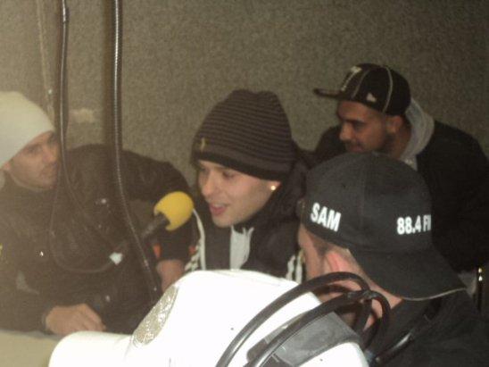 Lors de mon passage a Radio Galere 22 janvier 11
