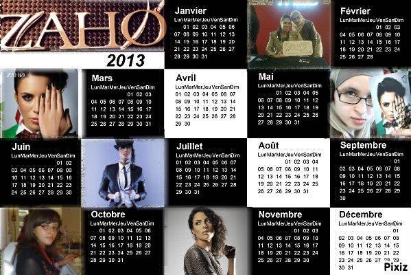 sisi!!! le calendrier de Zaho est là
