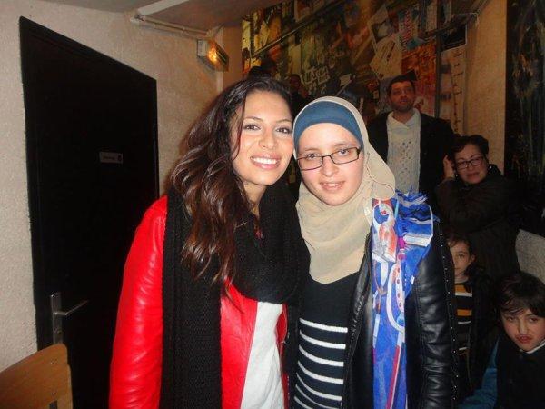 Zaho et moi après son concert à Achères ! <3