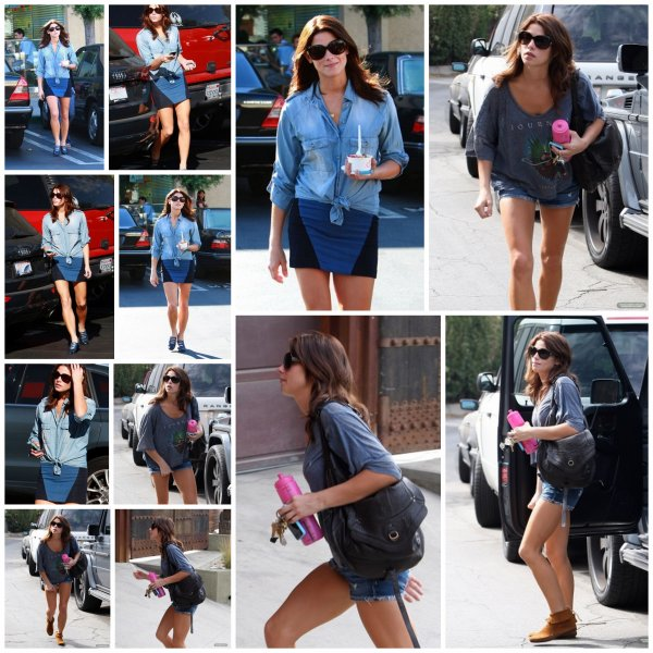 . 30/09/10 : Ashley mangeant une glace in L.A 30/09/10 : Ash' allant a son cours de yoogaaa ! .