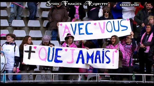 Supporters Stade Français, saison 2010-2011 ! Toujours fiers de nos couleurs !