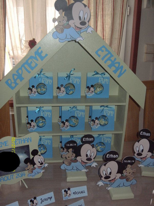 ensemble bapteme mickey