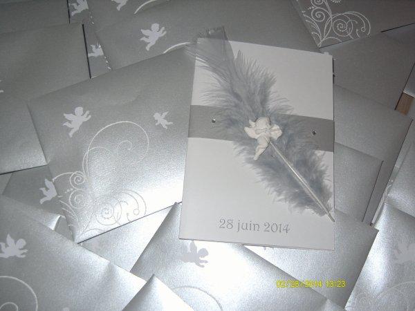 ange et plume argent
