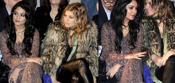 _  ♥ LA FASHION WEEK CONTINUE À NEW YORK - Partie 2. - Vanessa Hudgens absolument magnifique en rouge, comme elle a assisté à la marquise présenter à la Fashion Week. Certainement mon look préféré de la semaine dernière ! Vanessa a également assisté à la Anna Sui montrer où elle était assise à côté de Fergie. On dirait qu'elles se sont bien amusés!   _