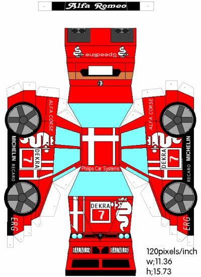 Alfa Romeo 155 v6 ti caricature.