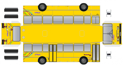 Renault s53rx (1987-1993) paperbus