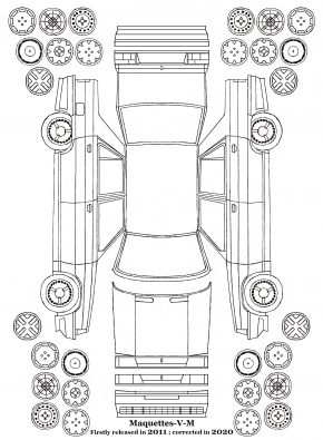 Renault 9 phase 1 et 2 maquettes / paper models (by me)