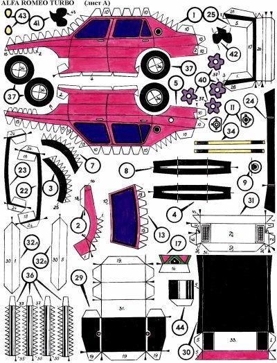 Alfa Romeo 75 turbo maquettes