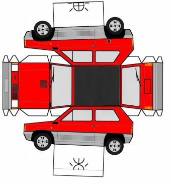 Fiat Panda maquette