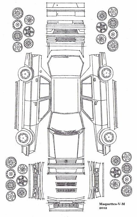 Peugeot 309 / Talbot Arizona 5 portes maquette (by me)