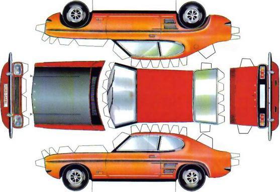 Ford Capri maquette